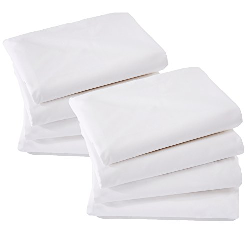 ALLERelief 8 Pack Zippered Pillow Protectors   Hypoallergenic   Premium Fibers 100% Brushed Microfiber   Anti-Microbial Construction   Noise-Free Pillow Covers   Standard Size