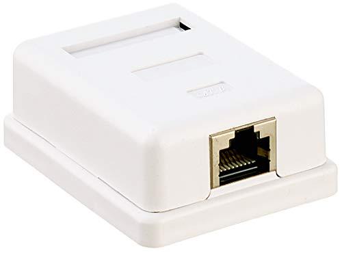 Delock Netzwerk Dose 1xRJ45 LSA werkzeugfrei Cat.6 86169 Weiß Dose 1x RJ 45