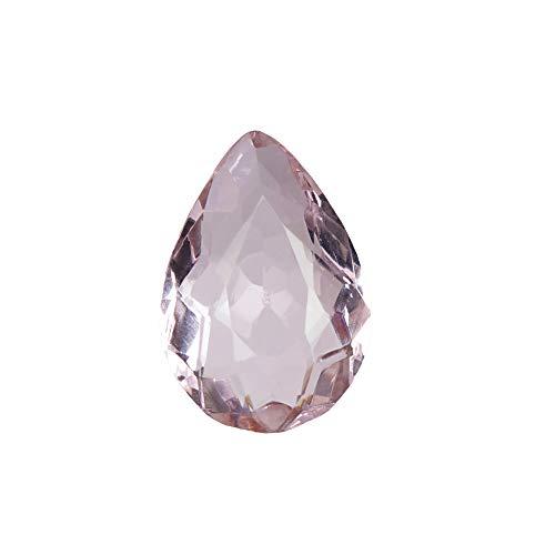 GEMHUB Topacio rosa de 48,95 quilates con forma de pera y topacio translúcido, piedra preciosa suelta para decoración