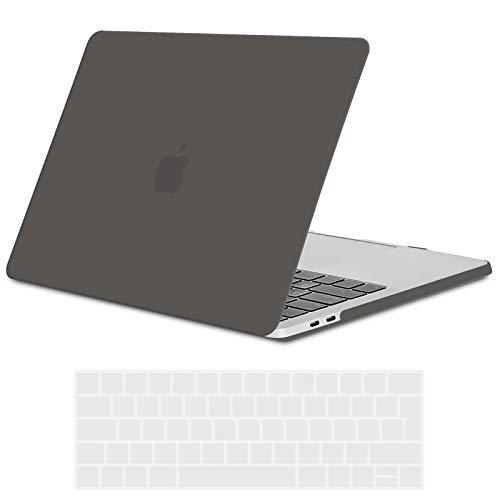 TECOOL Custodia MacBook PRO 15 Pollici 2016 2017 2018 2019 Case, Plastica Cover Rigida Copertina & Copertura della Tastiera per MacBook PRO 15,4 con Touch Bar & Touch ID A1707 / A1990 -Grigio