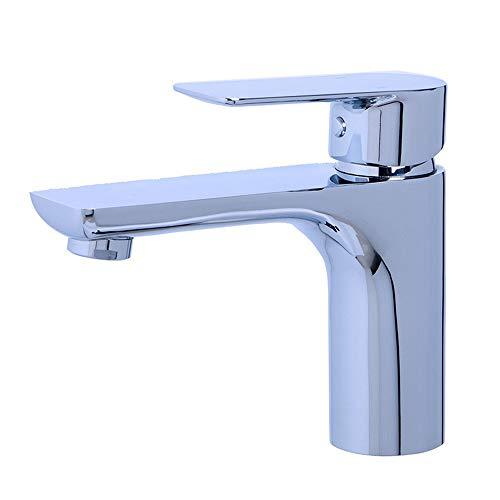 BOEN L19008 Badezimmer Messing Waschtischarmatur Wasserhahn Bad Armatur Mischbatterie Einhand-Waschtischbatterie Badarmaturen Waschbecken, Chrom