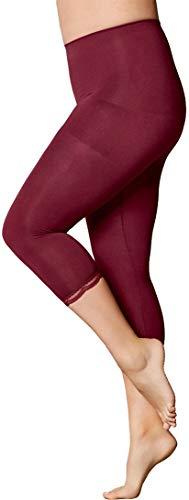 Golden Lutz Damen Capri-Leggings, figurformend ++ Plus Size ++ (Bordeaux, Gr. XXL 52/54) | ESMARA Lingerie