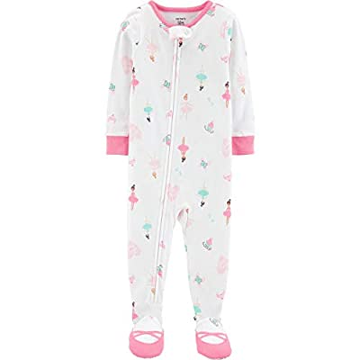 Carter's Toddler Girls Lightweight Sleeper Footie Sleep Play (Pink/Ballerina, 3T)
