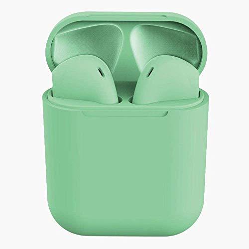 Fone De Ouvido Sem Fio InPods Coloridos Macaron Bluetooth 5.0 i12 TWS Touch True Wireless Stereo (Verde)