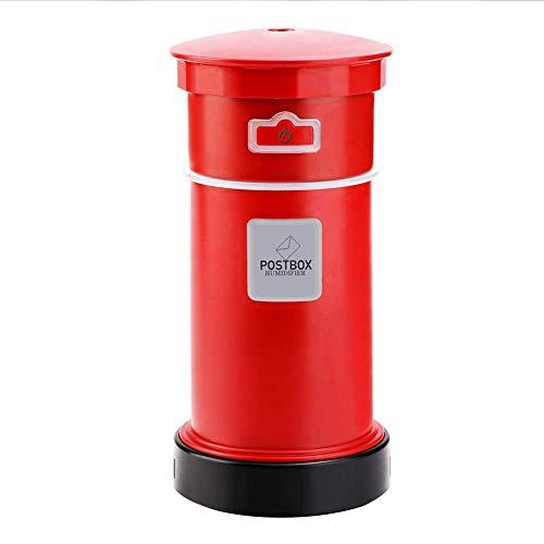 QAQWER ultrasone luchtbevochtiger, USB, aromatherapie-design, draagbaar, voor thuis, geschenk, automatische uitschakeling zonder water, rood