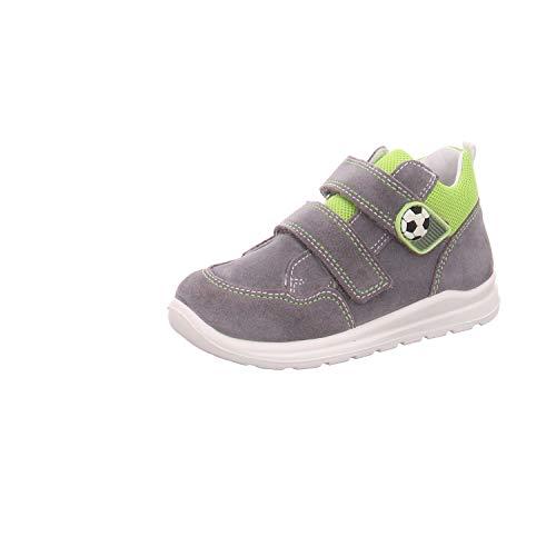 Superfit Jungen Mel Sneaker, Grau (Hellgrau/Hellgrün 25), 22 EU