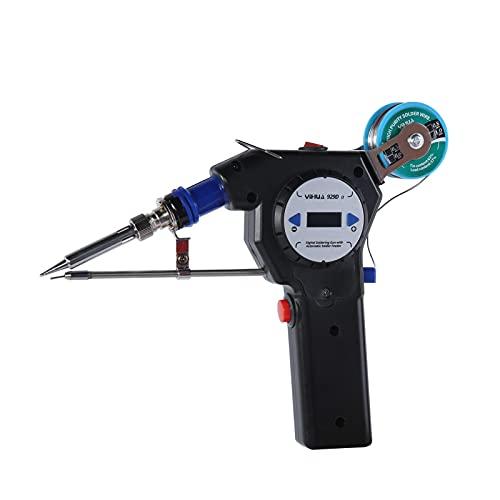 Chipoee Kit de Soldador, Soldadura automática con una Mano para Soldadura, Placa de Circuito, reparación de electrodomésticos, hogar, Bricolaje(Toma de EE. UU.)