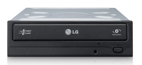 LG GH22NS SecureDisk SATA DVD-Brenner (22x8x16 DVD+RW, 20x6x DVD-RW, 12x DVD+R/-R DL, 12x DVDRAM, 48x32x48x CDRW) Retail schwarz