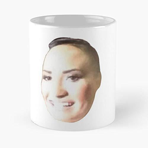 Demi GIF Poot Meme Album Tweet Lovato Story Drawing Song Eat Food Bite John Best Taza de café de cerámica de 325 ml