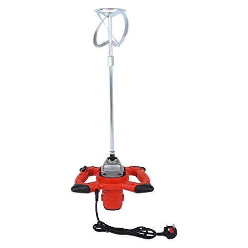 Kekison Paddle Mixer Drill 2380W Portable Electric Concrete Cement Mixer Plaster Paint and Mortar Mixer Handheld Tool for Mixing Plaster/Paint/Mortar/Glue/Adhesive Red