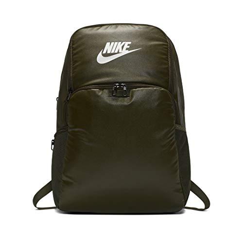 Nike Unisex_Adult Nk Brsla Xl Bkpk-9.0 Mtrl(30l) Daypack, Cargo Khaki/Cargo Khaki/White, one size