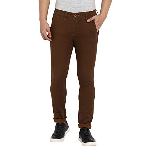 MUFTI Slim Fit Brown Ankle Length Jeans
