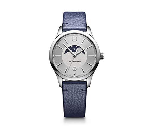 Victorinox Damen Alliance Small - Analog Quarz Swiss Made Edelstahl/Leder Uhr 241832
