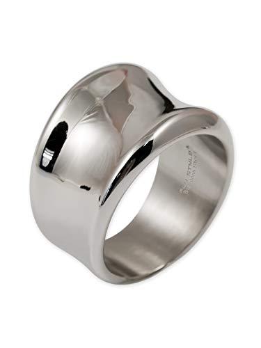 Fly Style Anello da Donna di Acciaio Inox | 17 mm Larghezza | Lucido, Misura dell'anello:17.2 mm