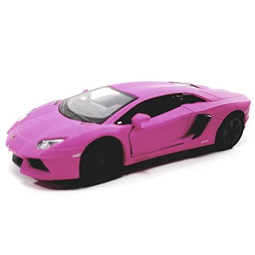 Kinsmart HOT Pink Matte Aventador LP-700 1/38 O Scale Diecast Car