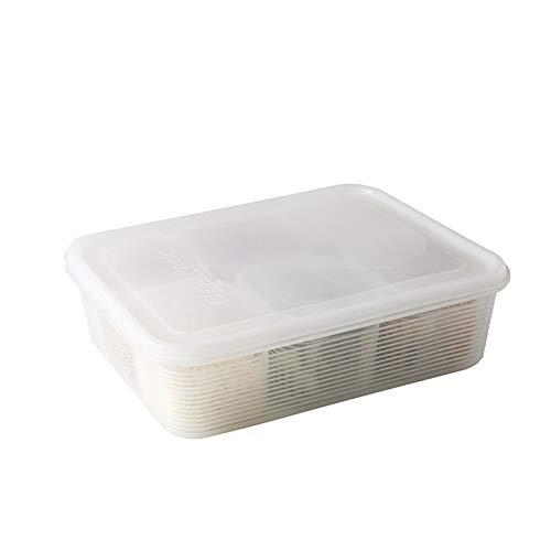 NFLOBD Conjunto Organizador de Nevera, Plástico Transparente para Mantener la frescura Ahorro de Espacio congelador, contenedor ordenado del refrigerador, organizadores para Cocina (1 Piezas Grande)