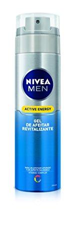 NIVEA MEN Active Energy - Gel de Afeitar Revitalizante , gel facial para un afeitado apurado y revitalizado, gel de afeitado para un aspecto saludable (1 x 200 ml)