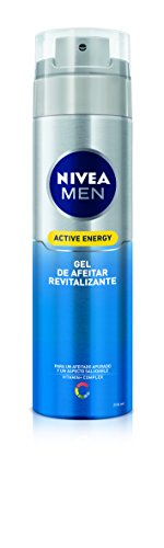 NIVEA MEN Active Energy - Gel de Afeitar Revitalizante , gel facial para un afeitado apurado y revitalizado, gel de afeitado para un aspecto saludable (1 x 200 ml)