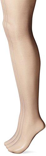 L'eggs Women's Silken 3 Pack Ultra Sheer Run Resist Panty Hose, Black Mist, Q+