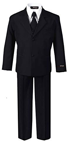 US Fairytailes Formal Boy Black Suit from Baby to Teen (X-Large (18-24 Months))