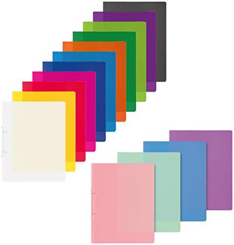 Brunnen Ringordner A4 2 Ringe 16mm extrastark farbig Sortiert (Sortiert, 15er Pack)