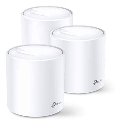 TP-Link Deco X60 Plus (3 Pack) - WiFi Mesh AX3000 Mbps, Sistema WiFi 6, Cobertura WiFi de 550 m2, Fácil instalación, Control Parental, Compatible con Todos routers de Fibra