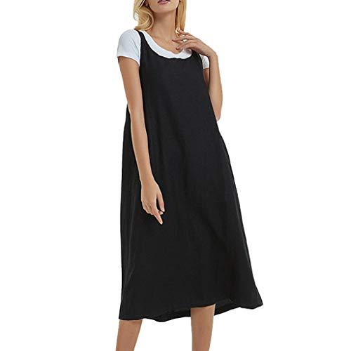 Bibao Damen Loose Overall Latzhose Baggy ärmellos Casual Träger Kleid