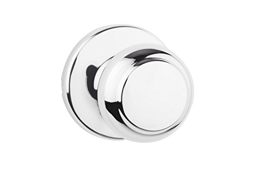 Kwikset 92001-580 200CV 26 6AL RCS V1 Cove Door Knobs with Traditional Colonial Design for Home Hallway or Closet Passage in Polished Chrome