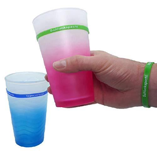Bada Bing 9er Set Glasmarkierer Und Armband Mit Spruch Farbige Partyarmbänder Für Ihre Getränke Glas Beschriften Markieren 48