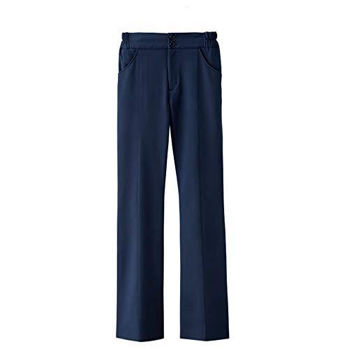 ナースリー ハイウエスト美脚パンツ 透けにくい 吸汗速乾 医療 看護 白衣 レディース LL ネイビー 759404A