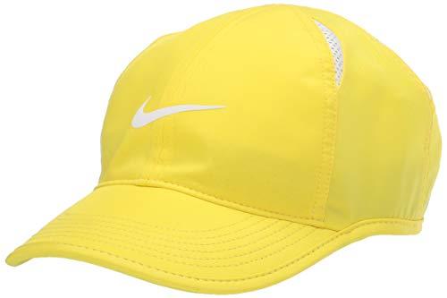 Nike Women's Nikecourt Aerobill Featherlight Hat, Opti Yellow/White/(White), Misc
