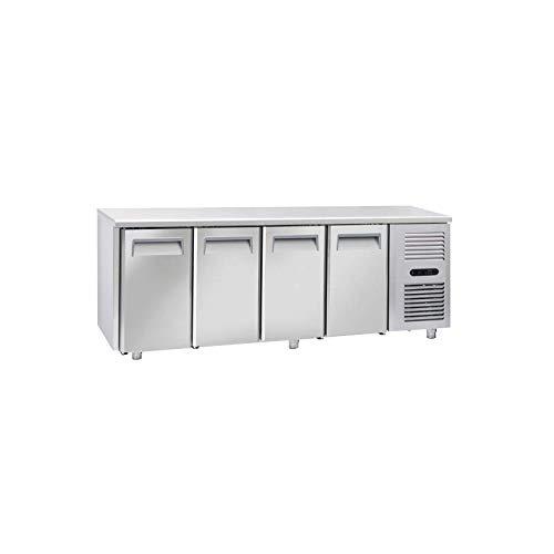 Table Réfrigérée Négative Tropicalisée Profondeur 700-4 Portes GN 1/1 - Cool Head - 700