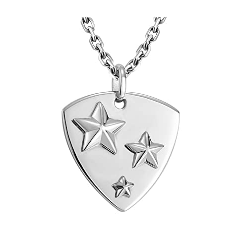 WFS Regalo 925 Silver Men's Stars Stars Colgante Moda Collar de Plata Joyería de Plata Diseño Original Joyas (Color : Titanium Steel Chain 50cm)