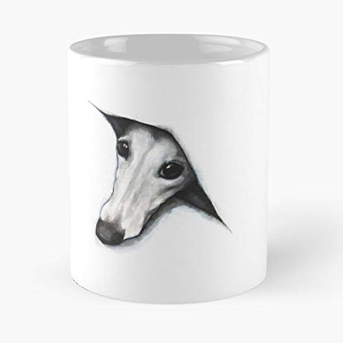 Awesomdeals Henderson Sarah Greyhound Whippet Peekaboo Peeping Sighthound Best 11 oz Kaffeebecher - Nespresso Tassen Kaffee Motive