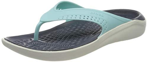 Crocs Literide Flip, Chanclas Unisex Adulto, Azul (Ice Blue/Almost White 4kp), 38/39 EU
