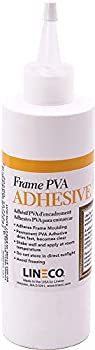 Lineco PVA Adhesive 8 oz Picture Frame Glue Adhere Wood or MDF Frames Dries Quickly Use to Glue Wood Board and Paper.