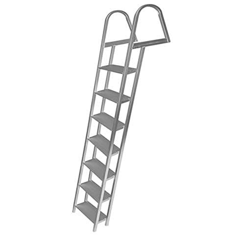 JIF Marine 7 Step Ladder, Aluminum, Mounting Hardware Included