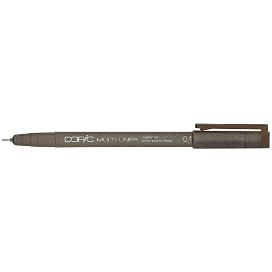 Copic Marker Multiliner Ink Pen, 0.1mm Tip, Brown