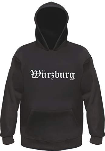 HB_Druck WÜRZBURG Hoodie Kapuzensweatshirt XL Schwarz