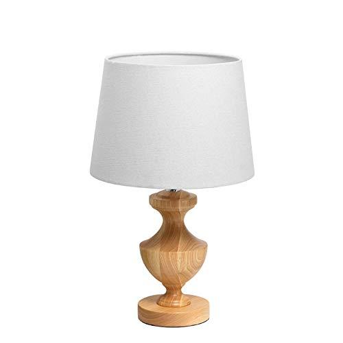 FAGavin Lámpara de mesa decorativa para sala de estar, estilo escandinavo, moderna, minimalista, para estudio, dormitorio, mesita de noche, lámpara de mesa creativa de madera, 45,5 cm x 28 cm