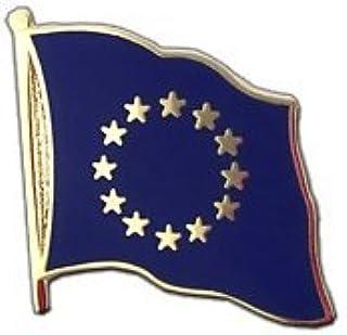 MaxFlags ®, motivo: bandiera dell'Unione europea UE, 90 x 150 cm, Pin's drapeau - 2 x 2 cm