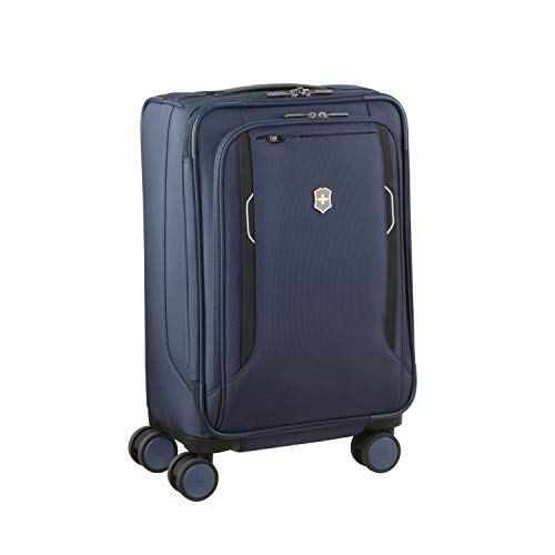 Best Bargain Victorinox WT 6.0 Softside Spinner Luggage, Blue, Expandable Carry-On, Frequent Flyer (...