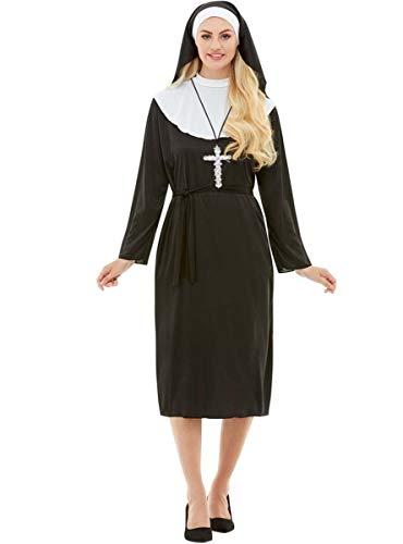 Funidelia | Disfraz de Monja para Mujer Talla XXXL ▶ Religioso, Nun, Sister Act - Negro, Túnica y cofia