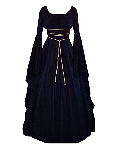 PengGengA Vestito Vestito Cosplay Medievale da Donna Abito Lungo retrò Costume di Halloween Marina M