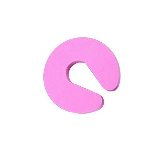 Protector de dedo para puerta, a prueba de bebés, protege los dedos del niño con protector de espuma suave, evita lesiones de dedo para bebé niño rosa 1 pieza