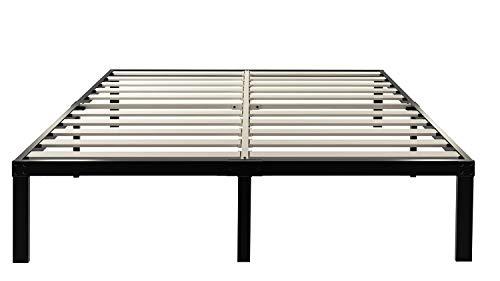 ZIYOO 14 Inch Wooden Slats Platform Bed Frame, 3500lbs Heavy Duty, Strengthen Support Mattress...