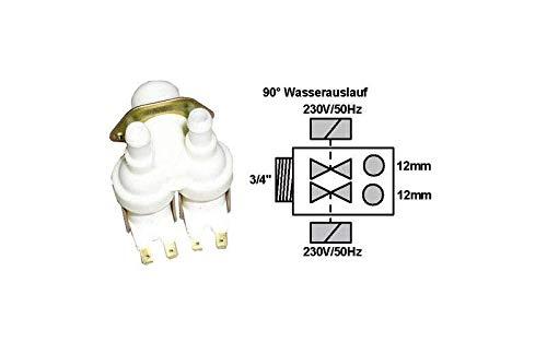 ELECTROVANNE 2 VOIES 90 D POUR LAVE VAISSELLE PHILIPS - 482228120061