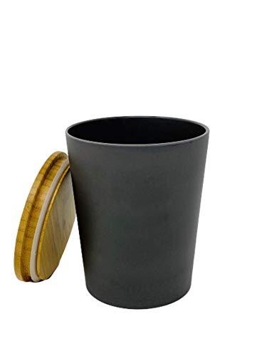 KeMar Kitchenware Vorratsdose mit Bambus Deckel (Dunkelgrau, 1 Liter)