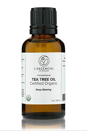 Organic Tea Tree Oil (1 oz.) by L'arcenciel Skincare. 100% Pure and USDA Certified Organic Tea Tree Essential Oil