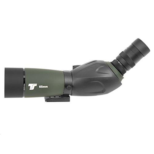 TS-Optics BW65Z Spektiv 16-48x65 Premium Zoom Okular Multi vollvergütete stickstoffgefüllt Optik wasserdicht inkl. Transporttasche DSLR Adapter